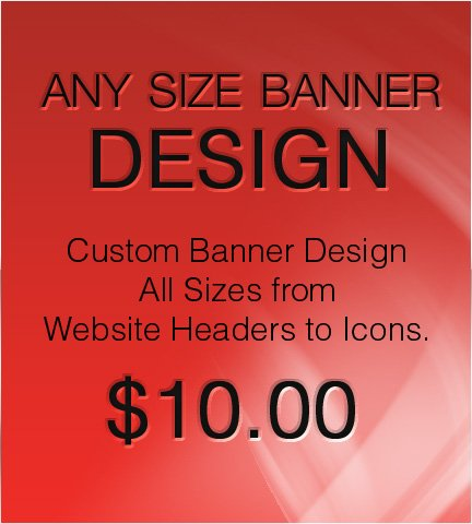 Any Size Banner Design