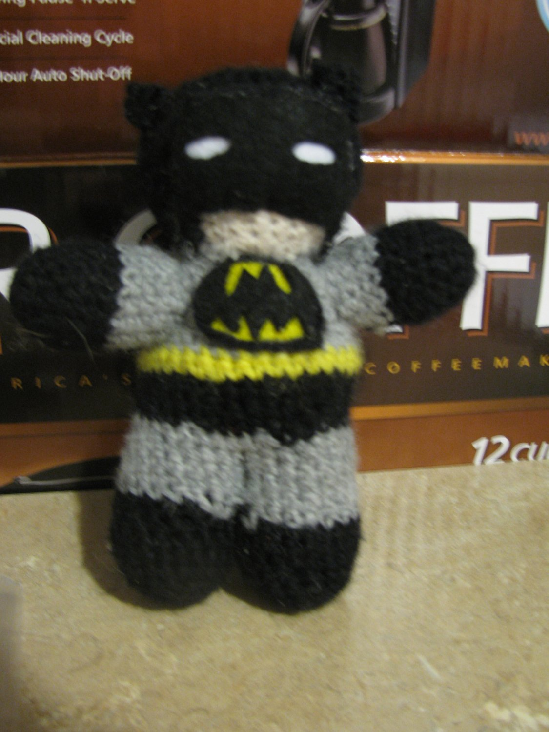 Super Hero Crochet doll: Batman