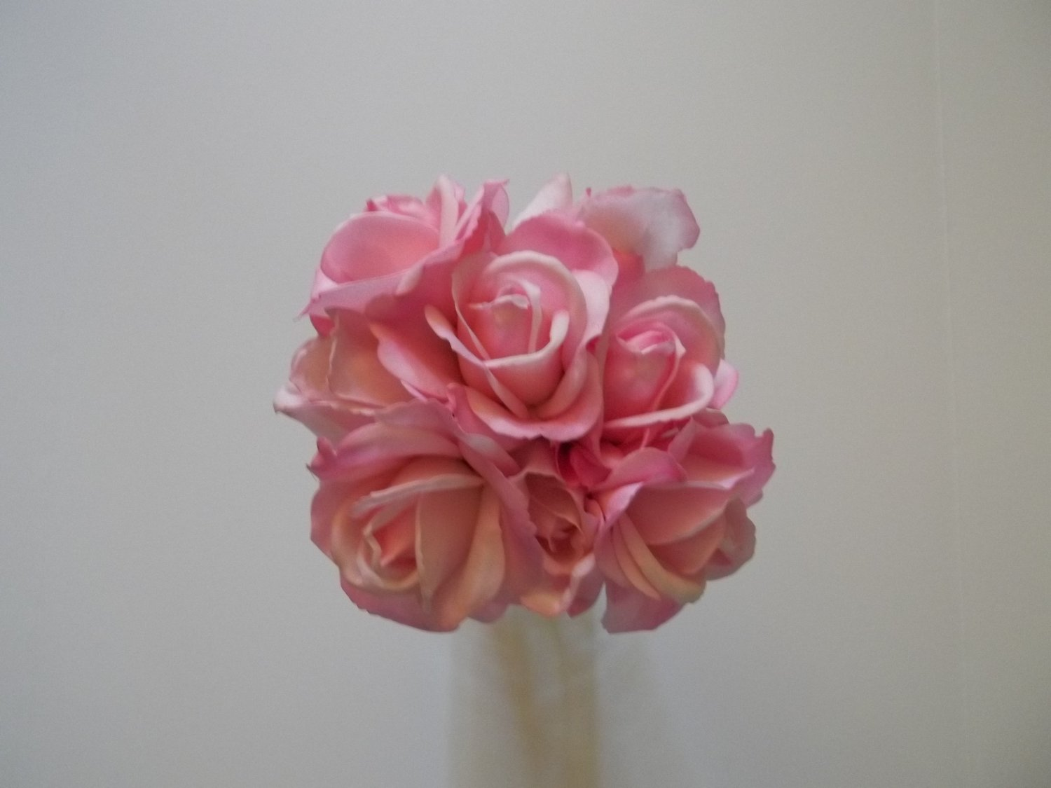 Ready to ship. True Touch Small Round Bride's bouquet. They look & feel like real Flowers.