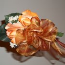 True Touch Wedding Corsage. These look and feel like real flowers. ( They are not silk.)