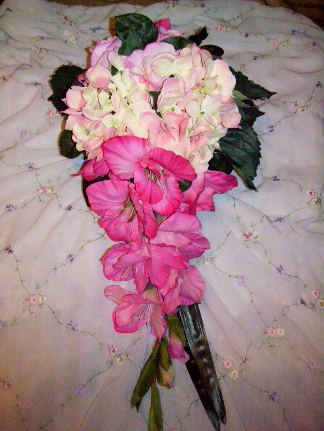 X-Large True Touch  Cascade  Bouquet. These look & feel like real Flowers. (They are not silk.)