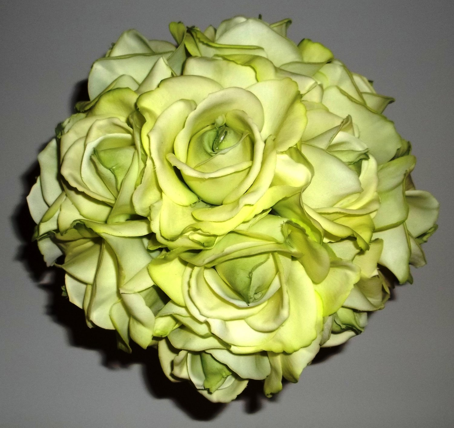 True touch Medium Round Bouquet. These look & feel like real Flowers. ( They are not silk.)