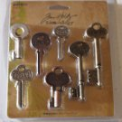 Tim Holtz Idea-Ology Word Keys 7/Pkg, Antique