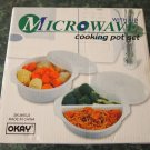 MICROWAVE COOKING POT SET WITH LID