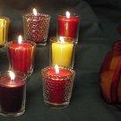 Sparkling Votive Candles-Pomegranate