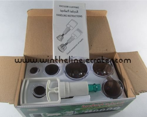 Cupping set 6 pcs cupping glass/cupping product/cupping device/cupping therapy Freeshipping