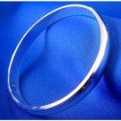 Silver plated Polished Thick bangle Bracelet