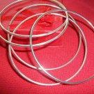 Set of 5 Bangles/Bracelets-Silver Plated