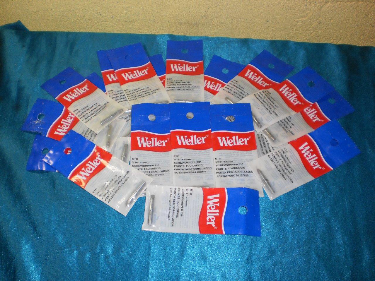 "Lot 20pcs. Weller ETD 3/16""4.8mm Screw Driver Tip"