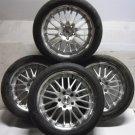 "4 Alloy Wheels Used Tyres 5x120 18"" VW Volkswagen T5 Transporter Van Load Rated x4 725KG"