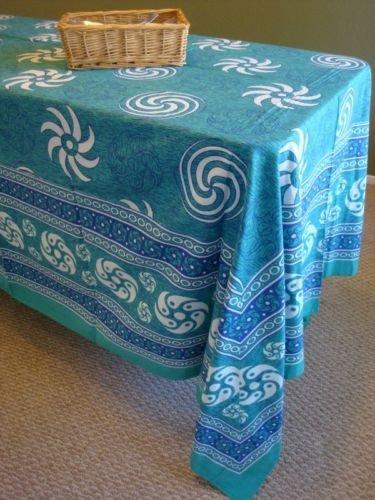 Rectangular Spiral Design Table cloth Tapestry