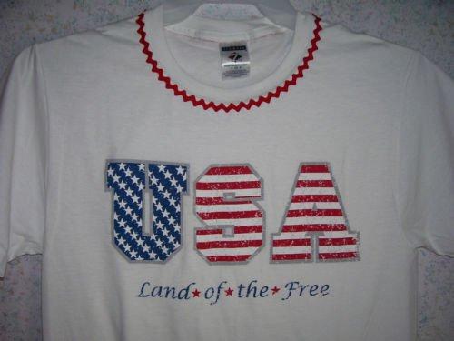 T-Shirt - USA - Land of the Free - Ladies Size M - NIP