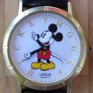 Mickey Mouse Watch by Lorus with Gold Letters-Vintage