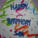 Birthday Party Smock-Adhesive-Backed Lettering-size 4-7