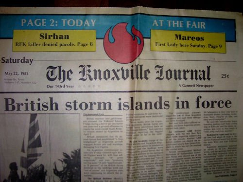 1982 World's Fair-Knoxville Journal Newspaper