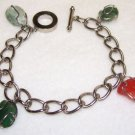 Bracelet - Silver - Wire-wrapped Stones-vintage