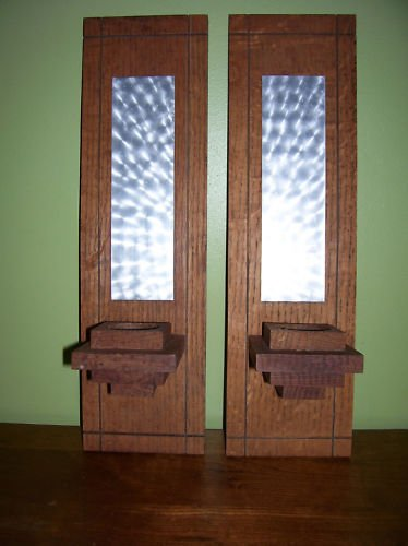 Wooden Wall Sconces - Handmade - Reflective
