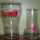 Coca Cola and 7up Glasses - vintage