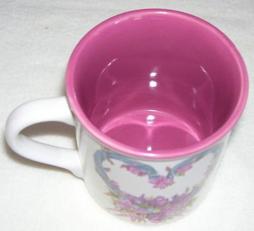 The Potpourri Press-Pink Floral Mug - 1988