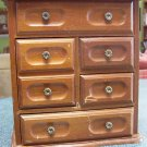 Jewelry Box Chest - vintage- wood- flip top compartment