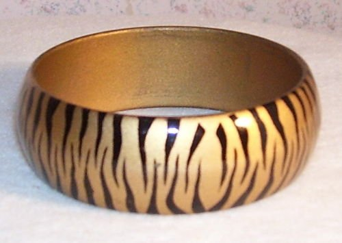 Zebra Bracelet - Gold and Black