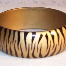 Zebra Bracelet - Gold and Black