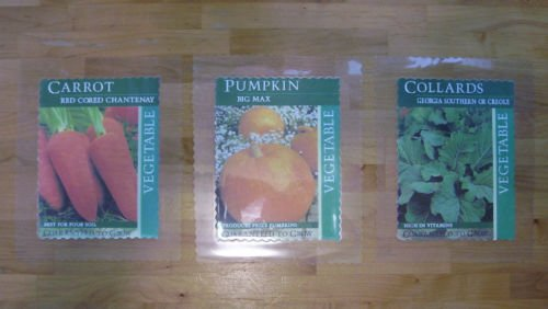 Garden Markers - Carrots-Collards-Pumpkins - Laminated