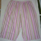 Pedal Pushers - Size 2X - pink/multi stripes