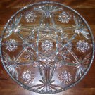 "Serving Tray - 14"" Cut Glass Crystal - vintage"