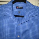 Mens CHAPS Blue White Checkered Shirt Long Sleeve 15 ½ Medium Mint Condition