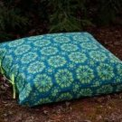 Organic Blue/Green Square Floral Bed