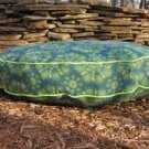 Organic Blue/Green Circular Floral Bed
