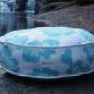 Organic Blue Circular Floral Bed