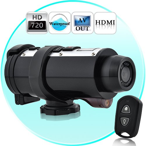 Poseidon - Waterproof 720P HD Sports Action Video Camera with Remote Control