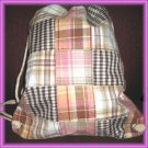 Stunning Plaid Drawstring Bagpack