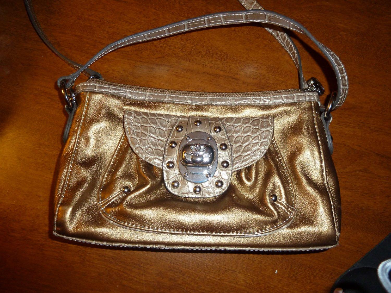 Kathy VanZeeland crossbody gold purse