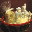 Christmas Basket with two Candles