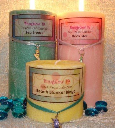 3x3 Palm Wax Pillar Candle Sea Breeze