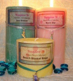 3x9 Palm Wax Pillar Candle Pina Colada