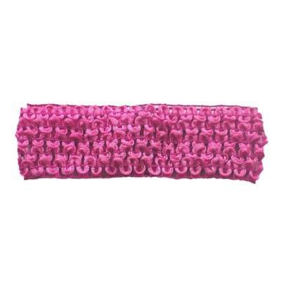 Hot Pink Crochet Headband