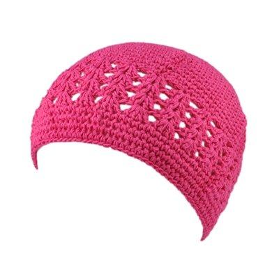 Hot Pink Crochet Beanie