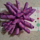 Purple Korker Bow Clip