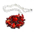 Vintage Red Glassy Necklace