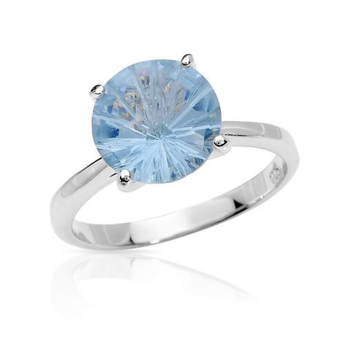 Vibrant Brand New Ring with 8.12ctw Cubic zirconia 925 Sterling Silver