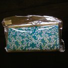 chinese brocade blue aqua floral evening purse clutch bag