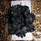 rockabilly burlesque goth goody retro delux black flower hair clip