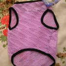 NWT stretch sheer pastel purple lace dog clothes shirt costume dress size small