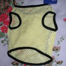 NWT stretch yellow mesh dog clothes shirt costume dress size small