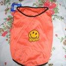 NWT stretch orange happy face dog clothes shirt costume dress size large
