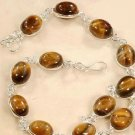 Tiger Eye 925 Sterling Silver Bracelet - BR005